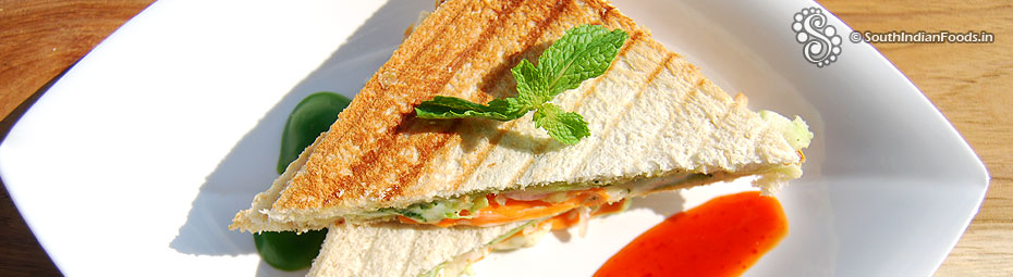 Grilled vegetable sandwich-With video