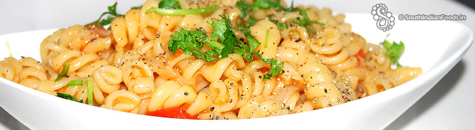 Tomato fusilli pasta recipe indian style easy breakfast recipe no masala penne pasta indian style forumfinder Gallery