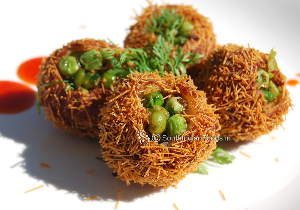 Bird nest recipe vegetable birds nest with potato green peas forumfinder Image collections