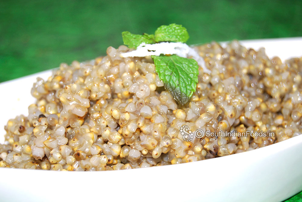 Kambu sadam pearl millet rice bajra rice how to cook for Aharam traditional cuisine of tamil nadu