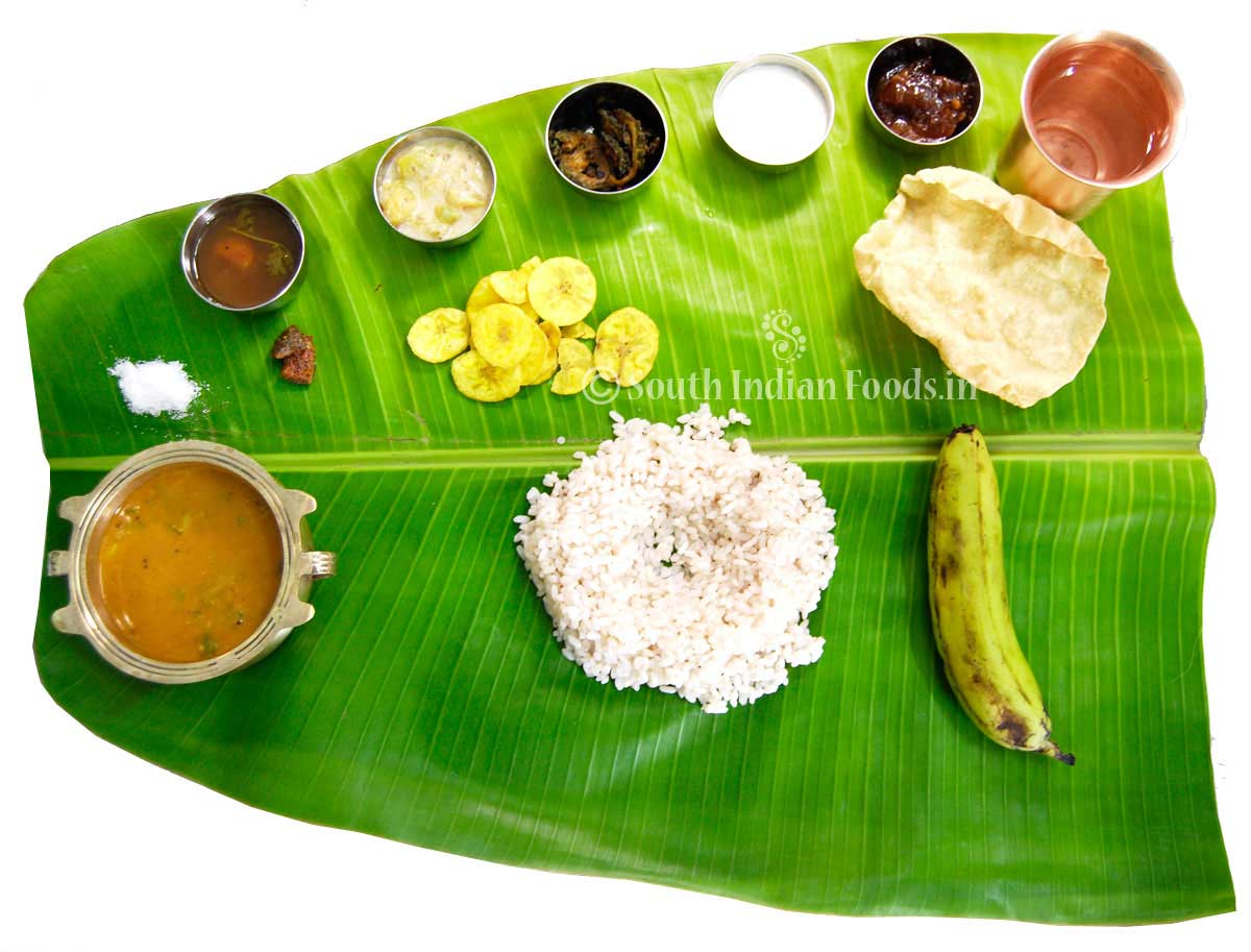 Kerala Plantain Meals
