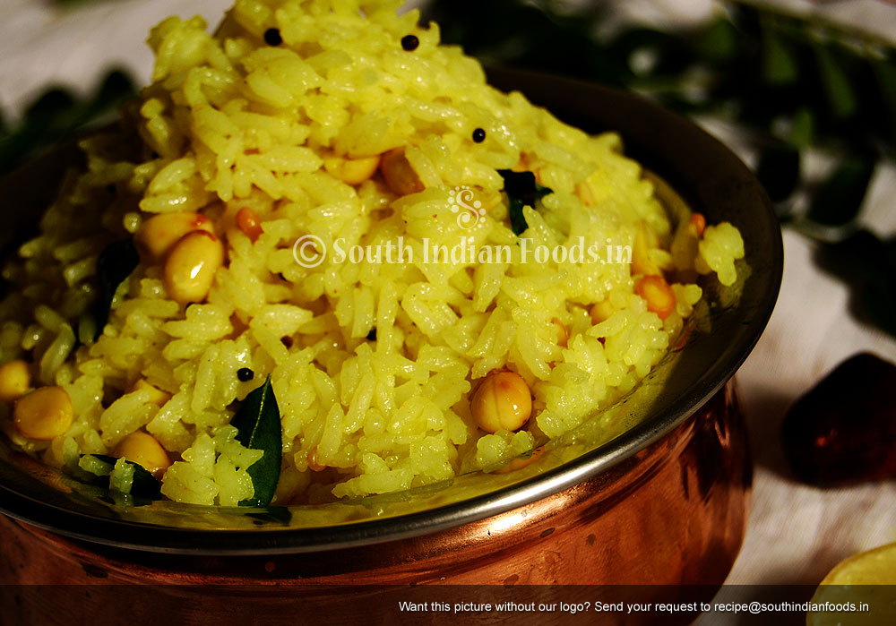 Simple lemon rice tamilnadu style 258 calories 1 cup how to make enlarge forumfinder Images