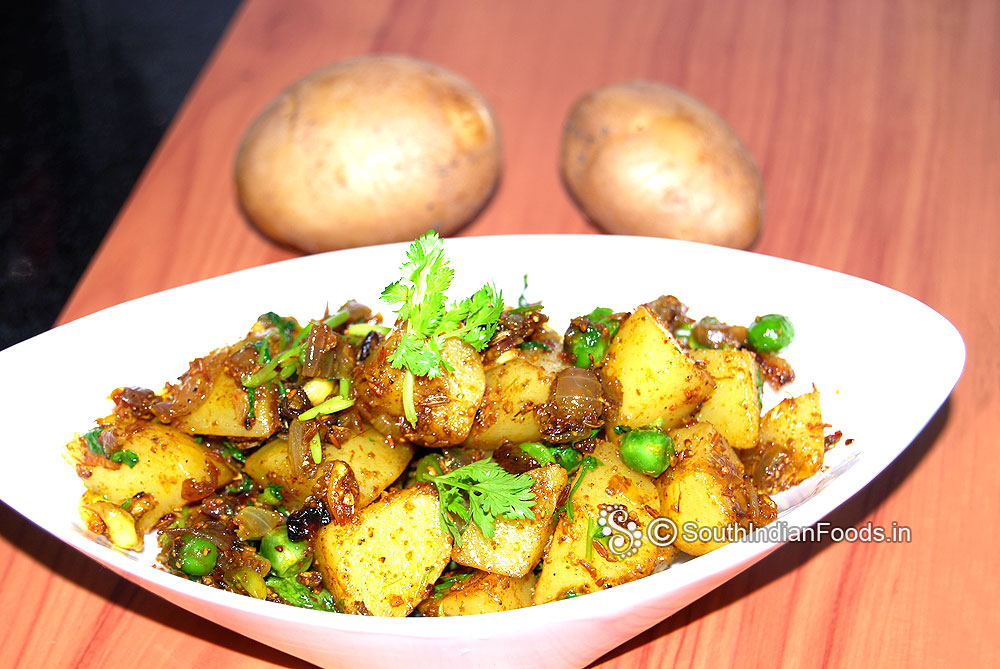 Aloo matar dry recipe potato green peas fry aloo matar dry sabji cuisine style north india cooking time 8 to 10 minutes to serve 4 type curry masala sabjisabzi stir fry fry take with rotichapatiparatha forumfinder Image collections