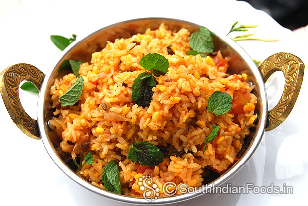 Moong Dal Biryani Pasi Paruppu Pulav How To Make Step By
