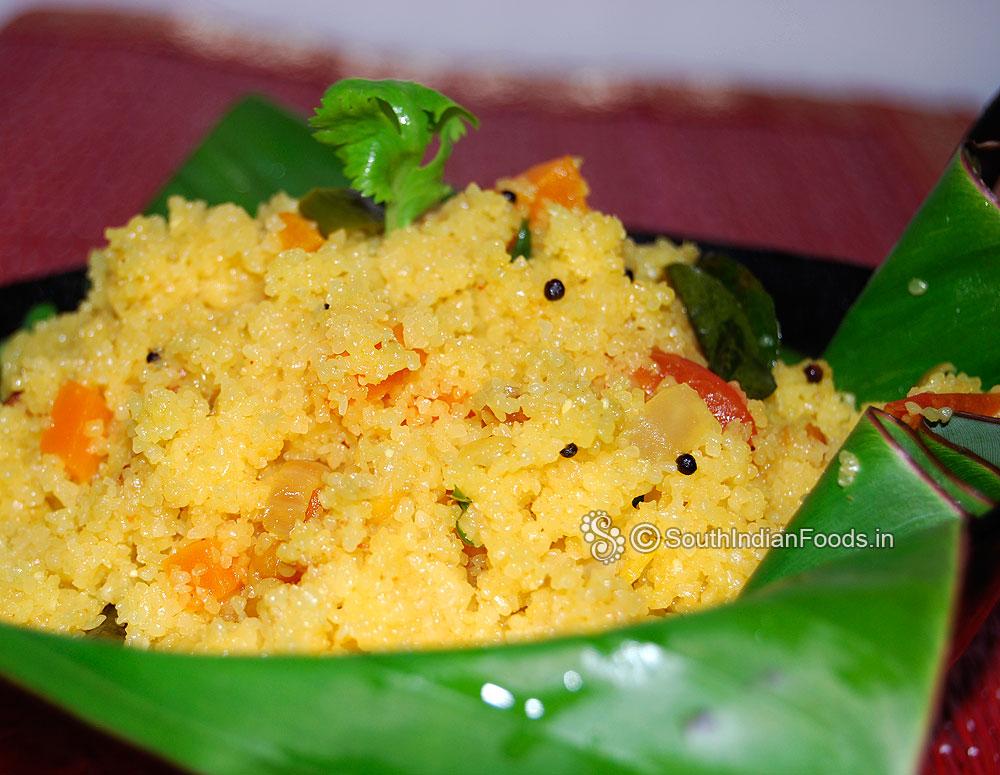 Bansi Rava Upma Sooji Uppittu Karnataka Special Recipe