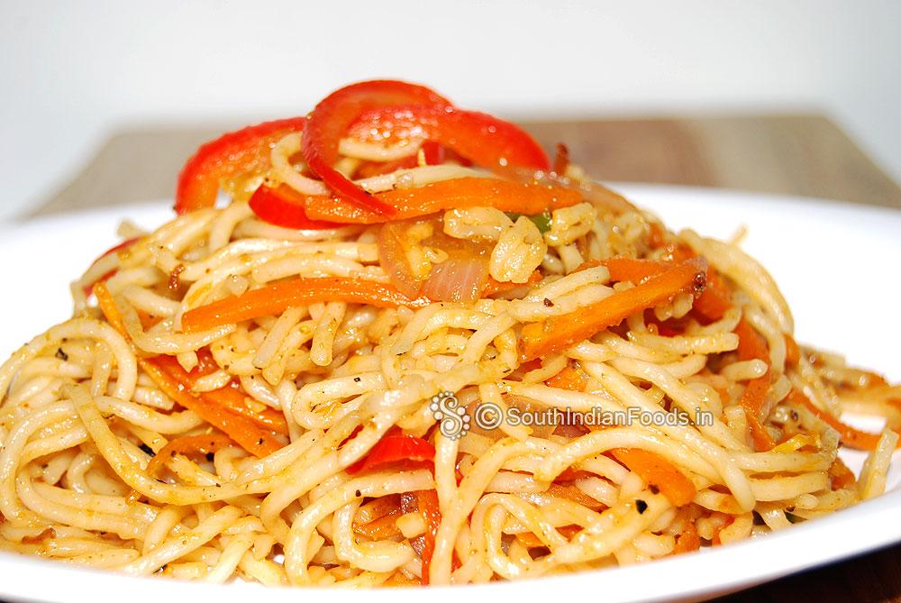 Simple veg masala noodles recipe