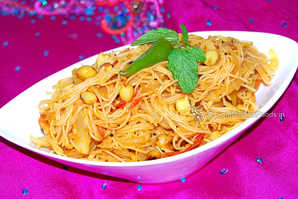 Tomato Vermicelli Upma Tomato Shavige Bath Thakkali Semiya Upma